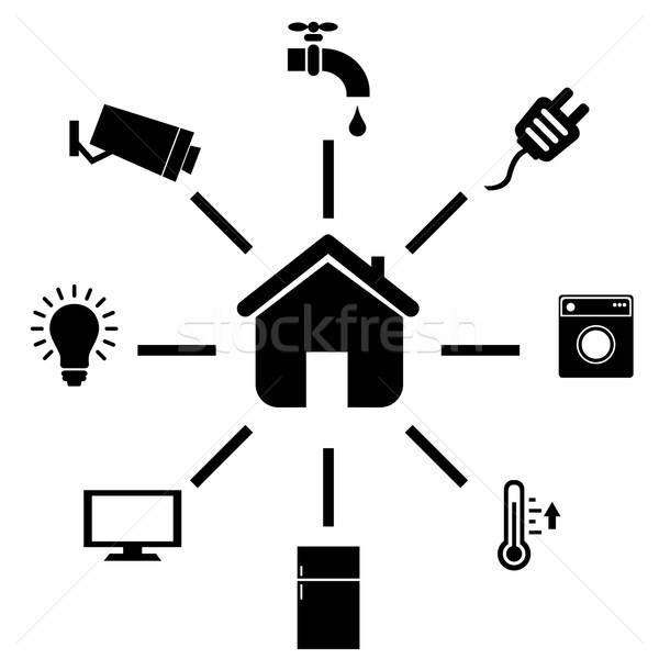 Smart home iconen internet spullen Stockfoto © soleilc