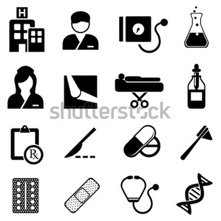 Stockfoto: Gezondheidszorg · symbolen · medische · gezondheidszorg · bloed · verpleegkundige