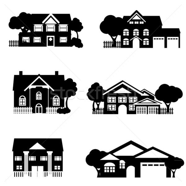 Single family houses Stock photo © soleilc