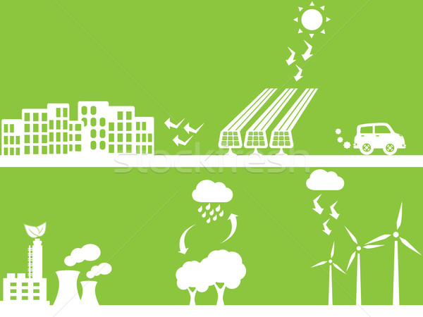 City using renewable energy Stock photo © soleilc