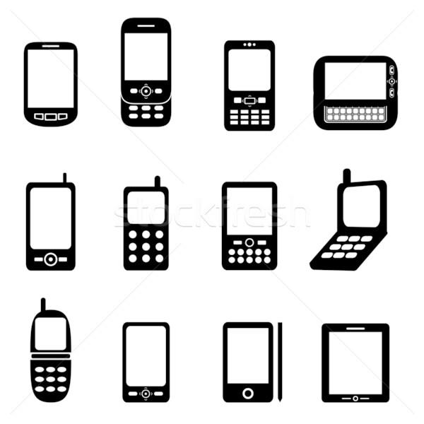Różny telefony komórkowe telefonu telefon klawiatury ekranu Zdjęcia stock © soleilc