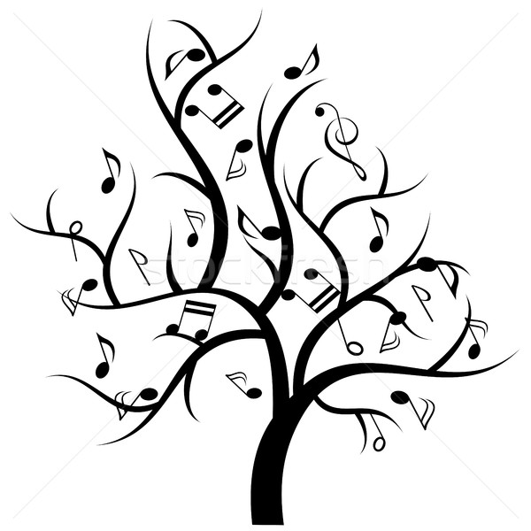 Musical tree with music notes Stock photo © soleilc