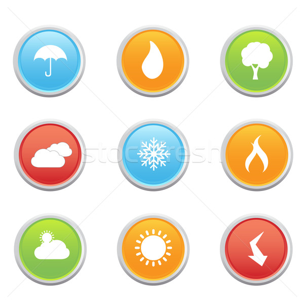 Weather Forecast Symbols Vector Illustration Soleilc 880727