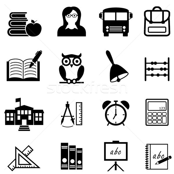 School, education and learning web icon set Stock photo © soleilc