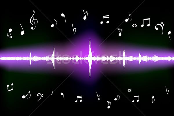 звуковая волна музыки отмечает различный цифровой звук аудио Сток-фото © soleilc