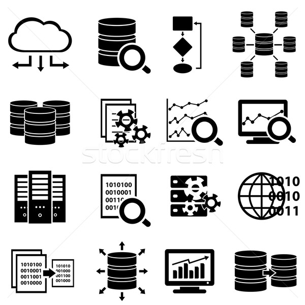 Stock photo: Big data and technology icons