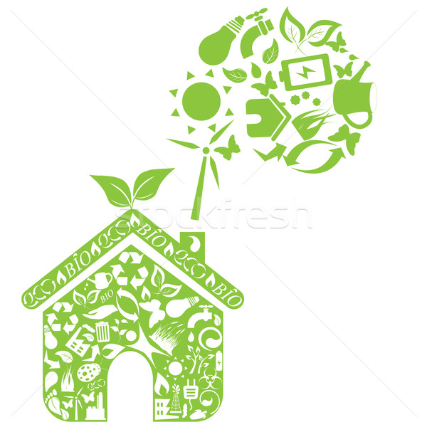 Eco house Stock photo © soleilc