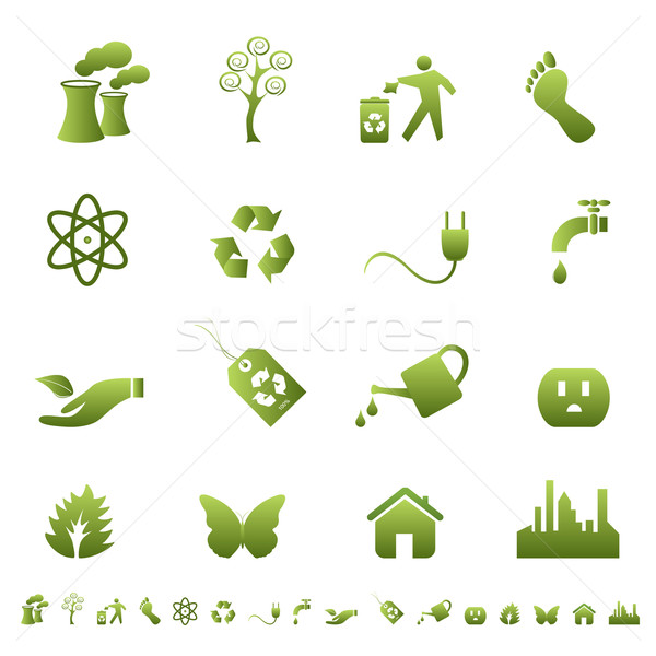 Environment and ecology symbols Stock photo © soleilc