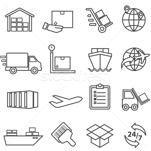 Shipping, cargo, delivery, distribution, freight and warehouse l Stock photo © soleilc