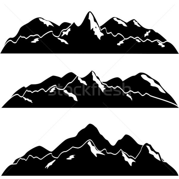 Mountains with snow Stock photo © soleilc
