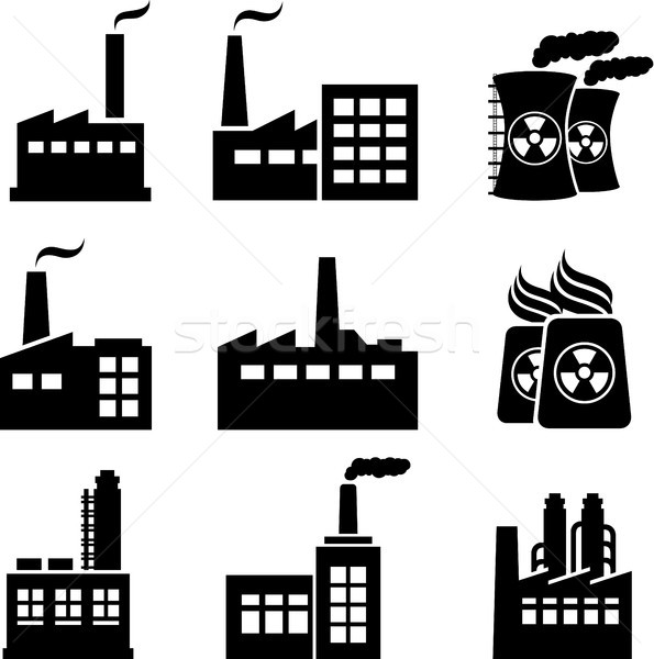 Stock fotó: Ipari · épületek · gyárak · nukleáris · növények · ipar
