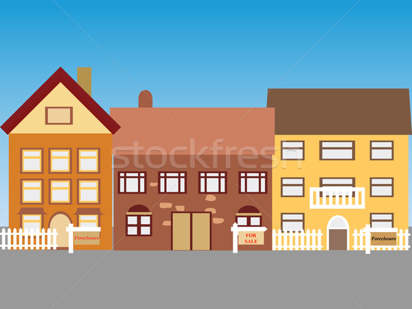 Homes for sale Stock photo © soleilc