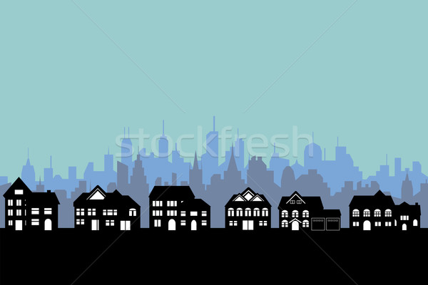 Big city and suburbs Stock photo © soleilc