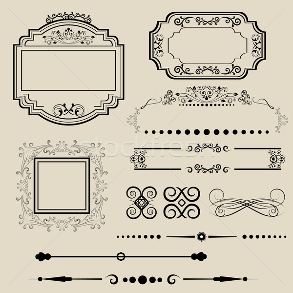 Ornamental borders and frames Stock photo © soleilc