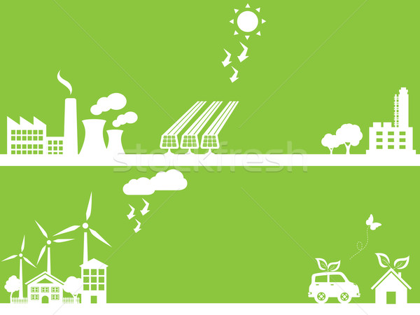 Green eco friendly city Stock photo © soleilc