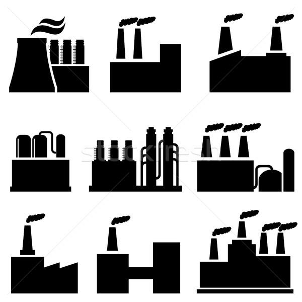 Industrial edificios fábrica contaminación fábricas Foto stock © soleilc