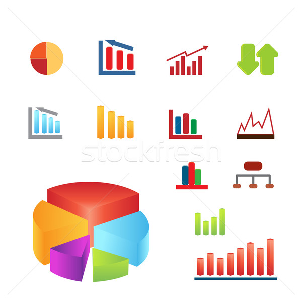 Charts business financieren Stockfoto © soleilc