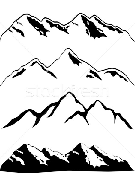 Mountain peaks Stock photo © soleilc