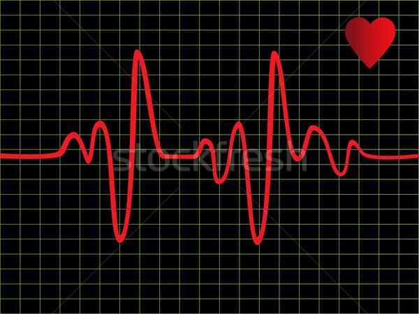 Hartslag monitor nood gezondheidszorg vector Stockfoto © soleilc