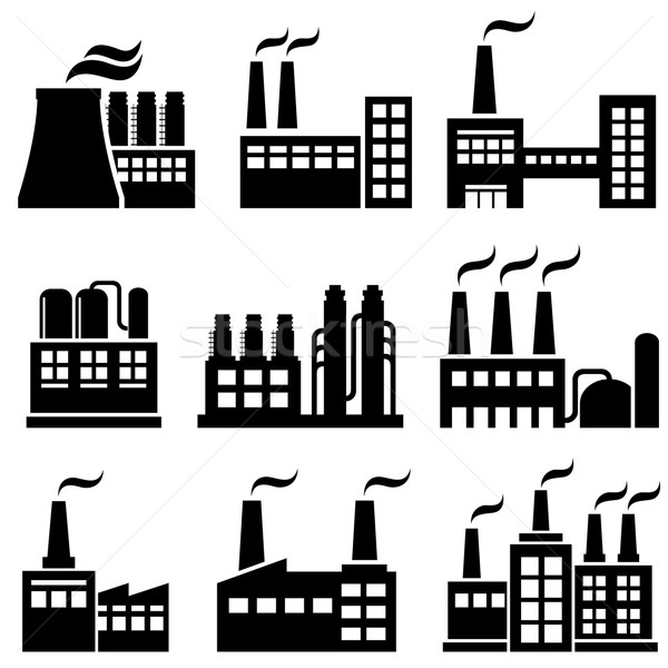 Industrial buildings, factories, power plants Stock photo © soleilc