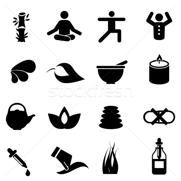 Alternative medicine icons Stock photo © soleilc