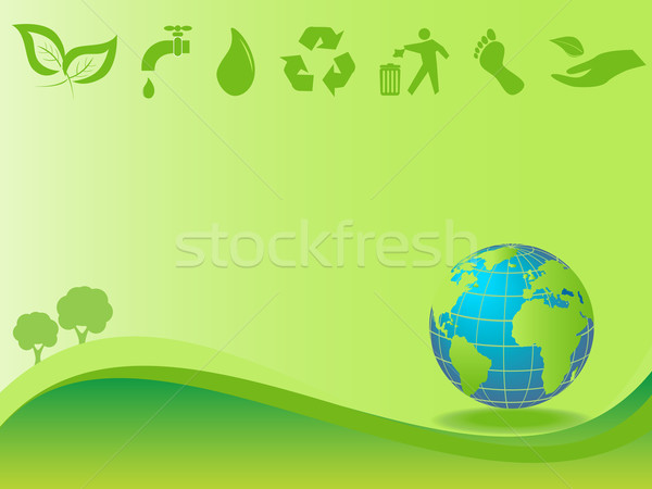 Clean environment and earth Stock photo © soleilc