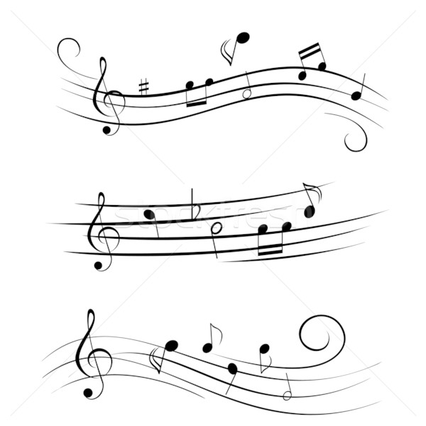 Sheet music musical notes Stock photo © soleilc