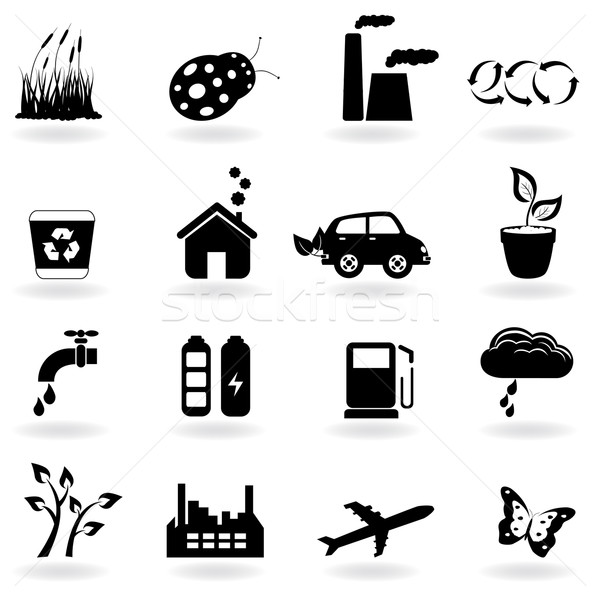 Ecology icon set Stock photo © soleilc