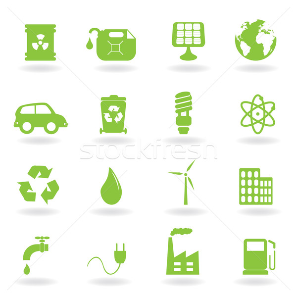 Environment and eco symbols Stock photo © soleilc