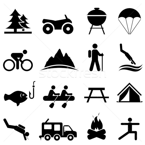 Leisure and recreation icons Stock photo © soleilc