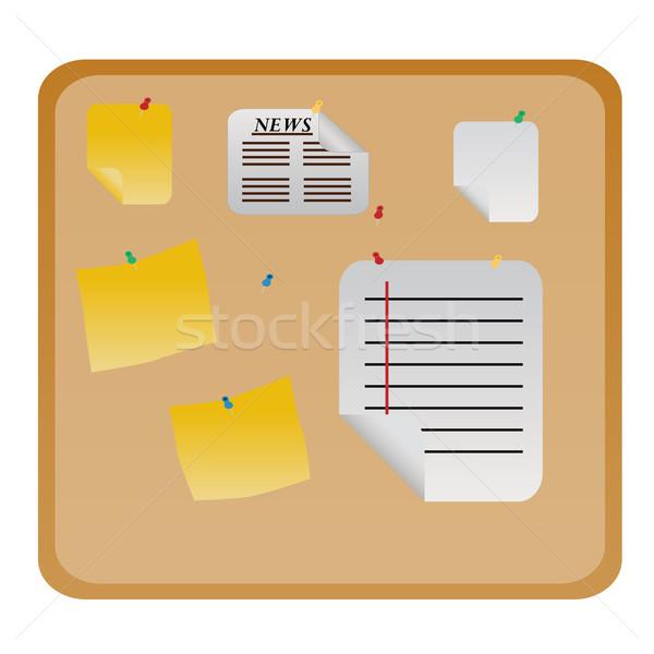 Boletim mensagem conselho documentos enforcamento Foto stock © soleilc