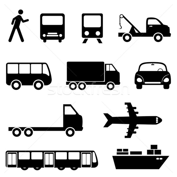 Transportation icon set Stock photo © soleilc