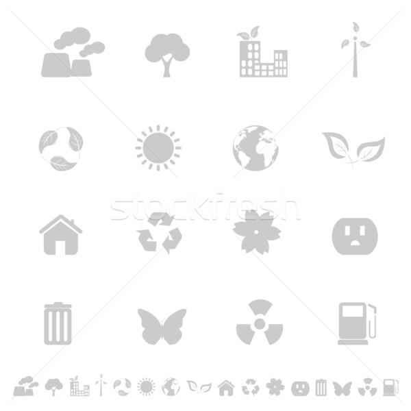 Photo stock: Environnement · écologie · icônes · maison · bâtiment · papillon