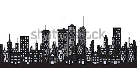 Urbanas horizonte ciudad grande casa casa Foto stock © soleilc