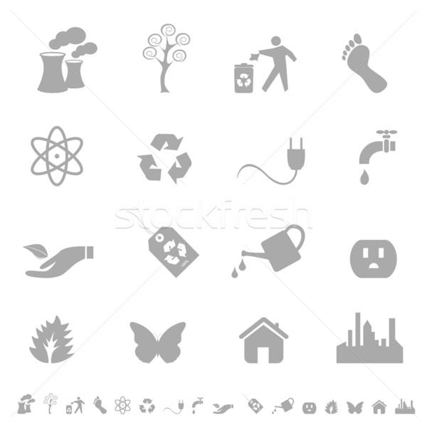 Eco symbols and icons Stock photo © soleilc