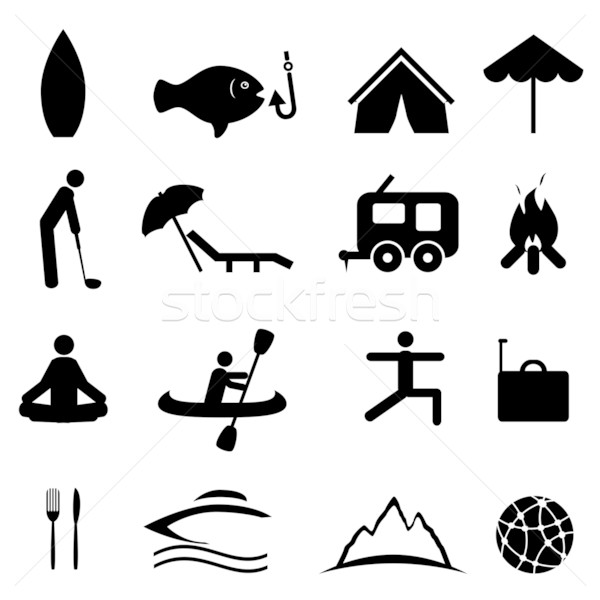 Sports and recreation icons Stock photo © soleilc