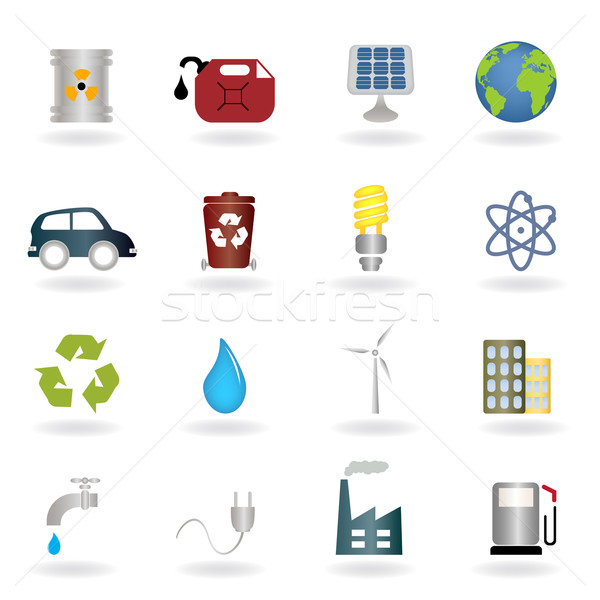 Environmental symbols Stock photo © soleilc