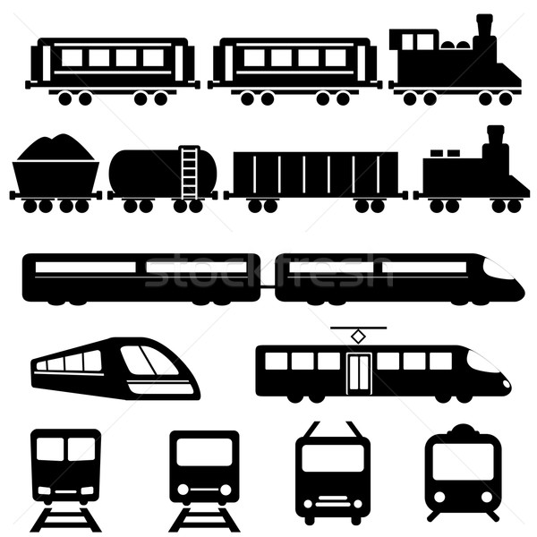Pociągu kolej żelazna transport ikona metra Zdjęcia stock © soleilc