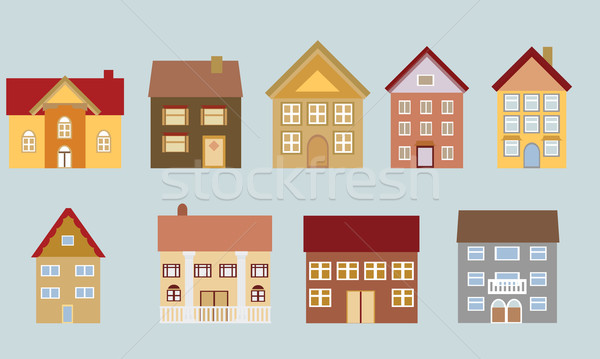 Houses with different architecture Stock photo © soleilc