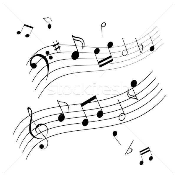 Hangjegyek zene lap hang kotta illusztráció Stock fotó © soleilc