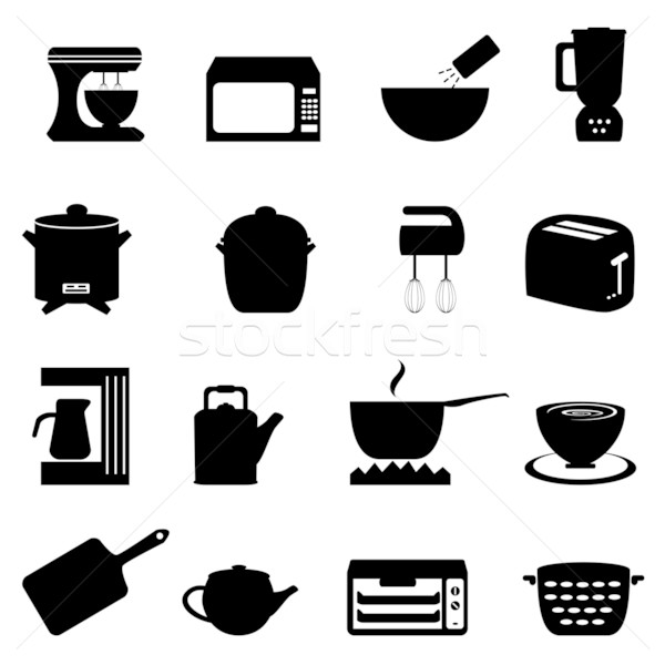 Kitchen utensils and items Stock photo © soleilc