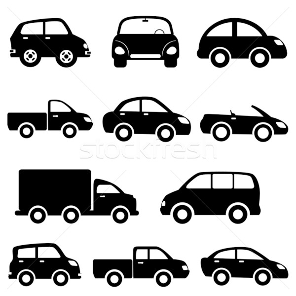 Car and truck icon set Stock photo © soleilc