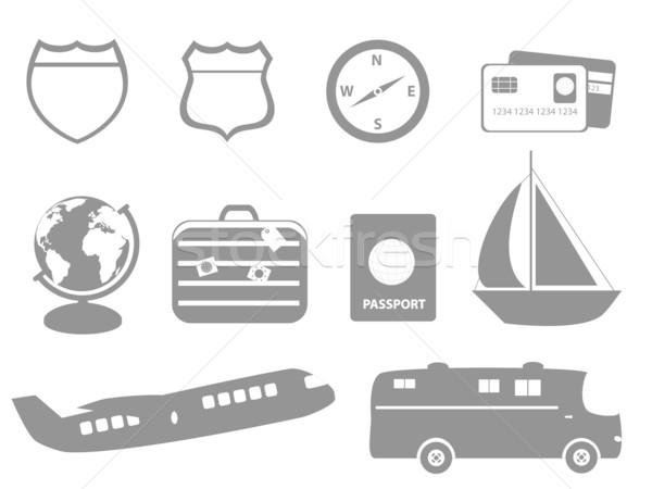 Turismo vacaciones viaje símbolos avión avión Foto stock © soleilc