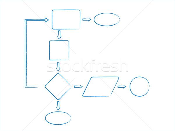 Bazy danych schemat schemat polu korporacyjnych firmy Zdjęcia stock © soleilc