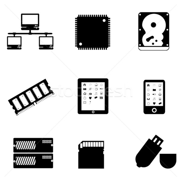 Computer parts and devices Stock photo © soleilc
