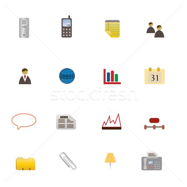 Business Symbols Icon Set Stock photo © soleilc