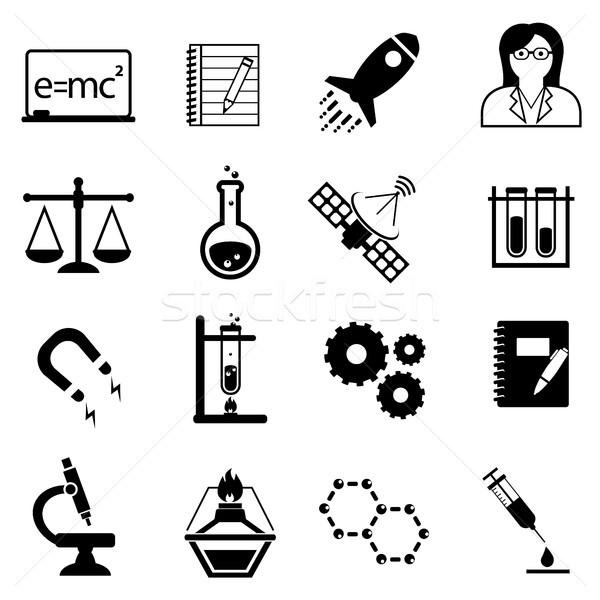 Scienza innovazione scoperta icone scientifica Foto d'archivio © soleilc