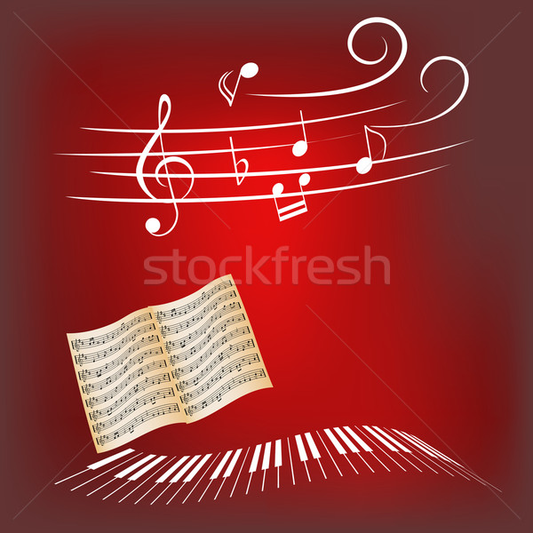 Piano music Stock photo © soleilc