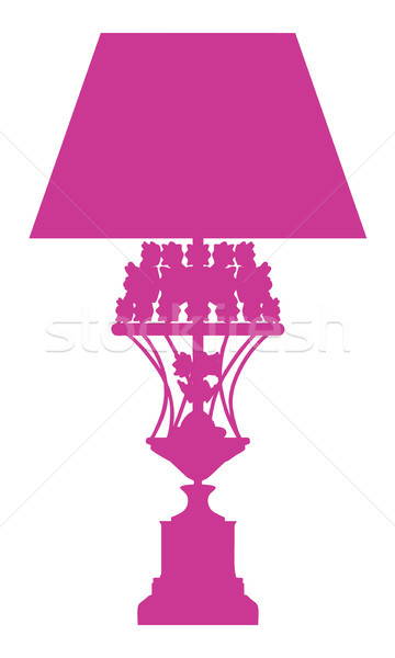 Silhouette of luxury desk lamp Stock photo © sommersby