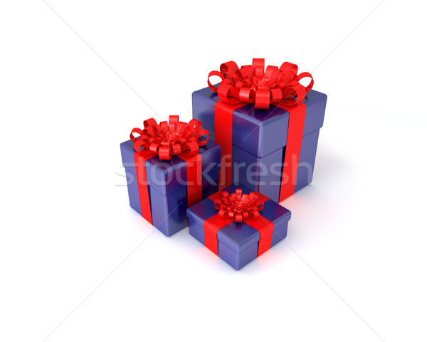 three gift boxes Stock photo © sommersby